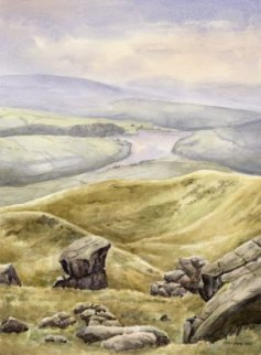 Image of Kinder Reservoir painting